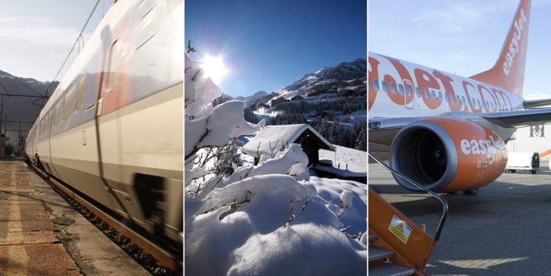 Snowcarbon Plane vs Train