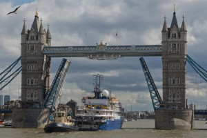 Sea Spirit arriving in London