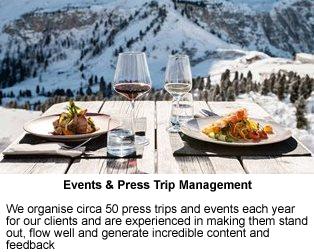 Services Events & Press Trip Management