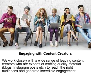 Services Engaging with Content Creators